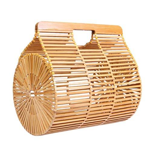 Onemoret creative Bamboo basket bag donne estate spiaggia Hollow Out casual Totes borse di alta qualità fatta a mano borse L