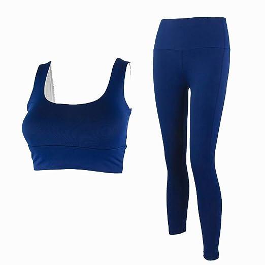 Conjuntos de ropa de yoga Mujeres Tops + Pantalones Set, Damas 2 ...