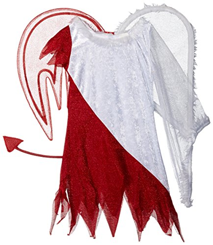 [Sassy Scene Heavenly Devil Deluxe Tween Costume, Medium (7-8)] (Devil Angel Costumes)