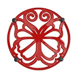 The Pioneer Woman - Timeless Beauty Trivet- Red Enameled Cast Iron