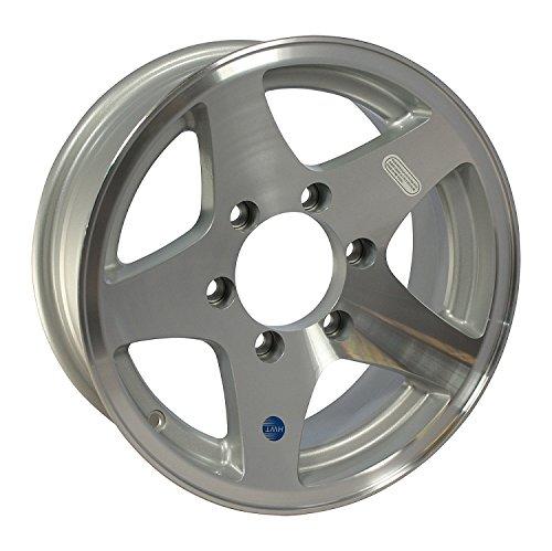 16 x 7 Aluminum Star HiSpec Trailer Wheel 6 on 5.50 Bolt Pattern