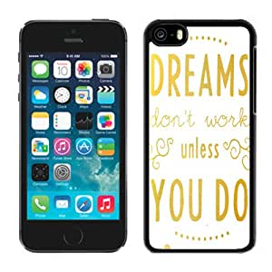 NEW Fashion Custom Designed Cover Case For iPhone 6 Plus 5.5 Inch Dreams Dont Work Black Phone Case