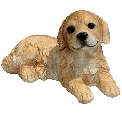 Michael Carr Designs 80105 Goldie Retriever Puppy Statue, Large, Gold
