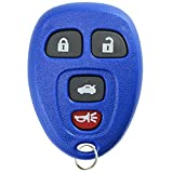 key for pontiac g6 blue - KeylessOption Keyless Entry Remote Control Car Key Fob Replacement for 15252034 -Blue
