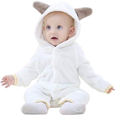 MICHLEY Bebés Ropa Oso Pelele de Niños Niñas del Otoño e Invierno Unisex Pijama