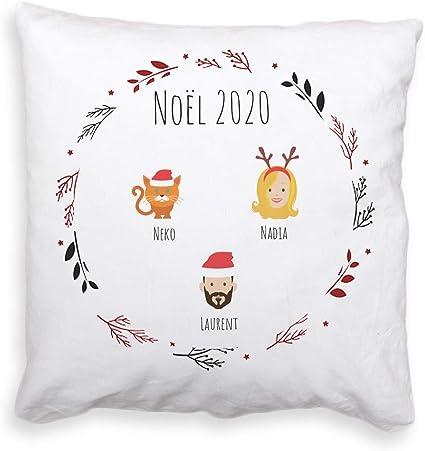 """1st Noël-Style 2 Personnalisé Blanc 18/"""" Coussin-Noël bébé"""