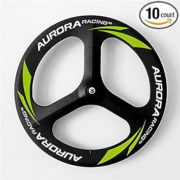 SunRise Bike T700 Carbon 3 Spoke 70mm Front Wheel 88mm Rear Wheel for Fixed Gear Bike