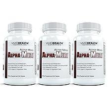 Active Men's Alpha-Multi (3 Bottles) - Maximum Strength Multivitamin for Male Health, Complete Nutrition for Active Men. 60 Tablets
