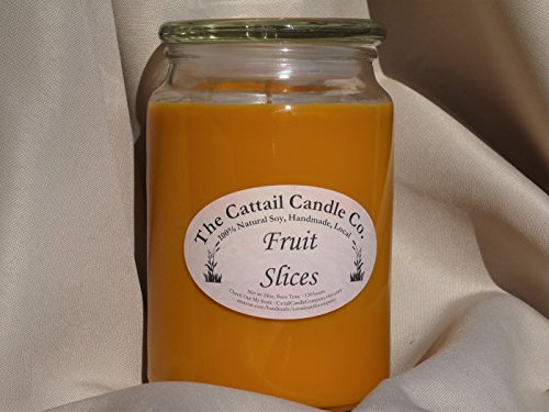 Cattail Candle - Fruit Slices - 100% Soy Candle, 24 fl oz