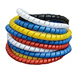 5PCS Dog Cat Cord Protector Electric Wire Protector Sleeve Covers Wire Loom Tubing Insulated Cables Prevent Your Pets from Chewing 10mm Width 33.3FT 5 Colors