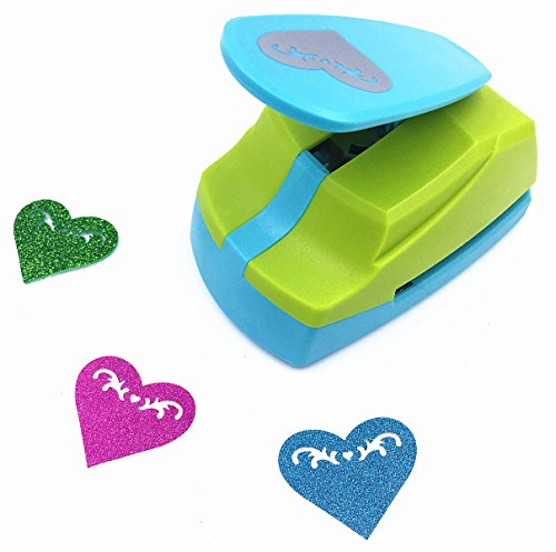 TECH-P Creative Life Crafts Punch Larger 2-Inch -DIY Paper Punch For For Making Cupcake Toppers,Colorful Garland Hanging Hearts,Card Scrapbooking Engraving Kid DIY Arts Crafts Projects-Heart