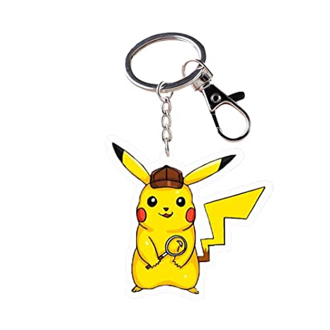 Amazon.com: RichyRichy Pokémon Detective Pikachu Keychain ...