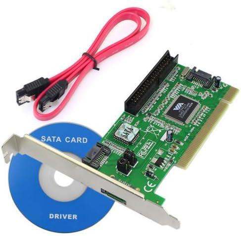 New VIA VT6421A 3 Ports SATA IDE Serial HDD ATA PCI Card