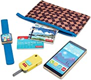 Fisher-Price On-The-Go Wallet - 7-Piece Pretend Play Gift Set Featuring Real Wood for Preschoolers Ages 3 Year