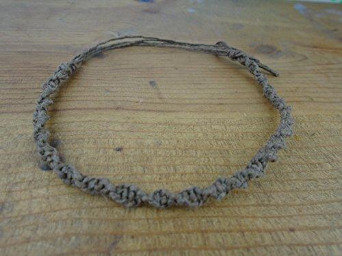 BEACH HEMP JEWELRY Dark Brown Hemp Anklet Bracelet Handmade In USA Adjustable