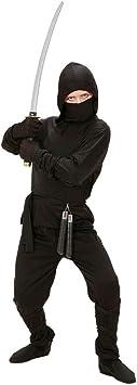 Ninjakostüm Krieger für Kinder Samurai Kämpfer Outfit Ninja Jungen Grün 152cm