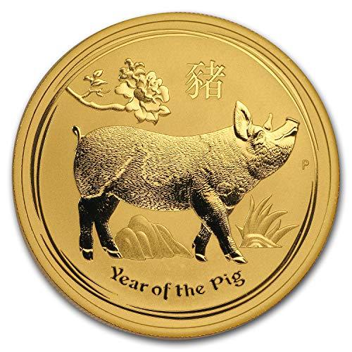 2019 AU Australia 1 oz Gold Lunar Pig BU (Series II) 1 OZ Brilliant Uncirculated ()