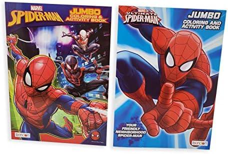 スパイダーマン ジャンボカラーリングブック アクティビティブック (6パック)