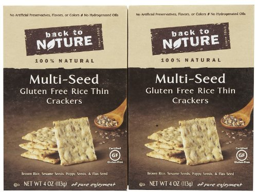 Multi-Seed Gluten Free Rice Thins Crackers 4 Ounces (Case of 12)