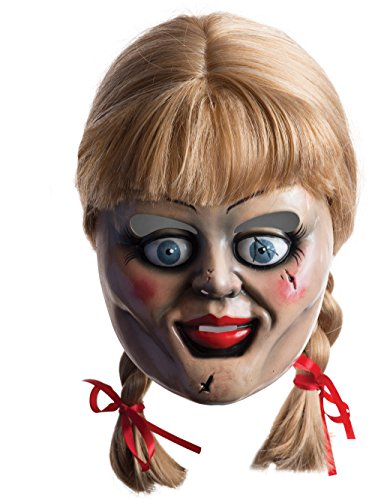 Rubie's Men's Annabelle Horror Mask with Wig, Multicolor, One Size