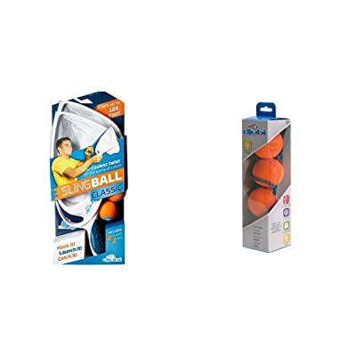 Blue Orange Djubi Classic - The Coolest New Twist on The Game of Catch!, Slingball Classic & Refill-Large: Toys & Games