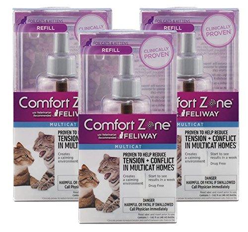 Comfort Zone With Feliway MultiCat Refills 3 Pack