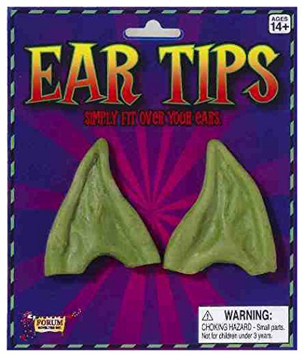 Forum Men's Pointed Elf Ears, Green, One Size