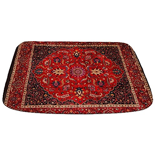 CafePress Antique Persian Mashad Decorative Bathmat, Memory Foam Bath Rug