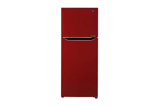 LG 260 L 3 Star Inverter Frost Free Double Door Refrigerator  N292KPRR, Peppy Red  Refrigerators