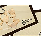 """Non-Stick Silicone Baking Mat Set (2 -16.5"""" x 11.75""""), Superior to Parchment Paper Sheets or Oil"""