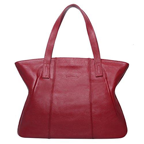 Main pour Sac shoppings Femme Sac à Femmes Loisirs Rouge Sac Sac bandoulière véritale Femme à Sac Luxueux pour Cuir Sac Leathario épaule qUHCXX