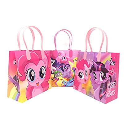 My Little Pony Character 12 Premium Quality Party Favor Reusable Goodie Small Gift Bags: Toys & Games