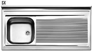 LAVELLO APPOGGIO ACCIAIO INOX 1 VASCA cm 120 Vasca Sinistra SX