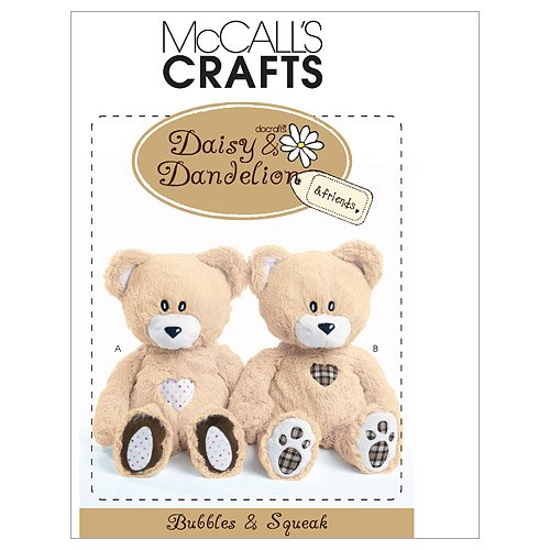 (McCall's Patterns M6135 Bubbles and Squeak Plush Bears, One Size)