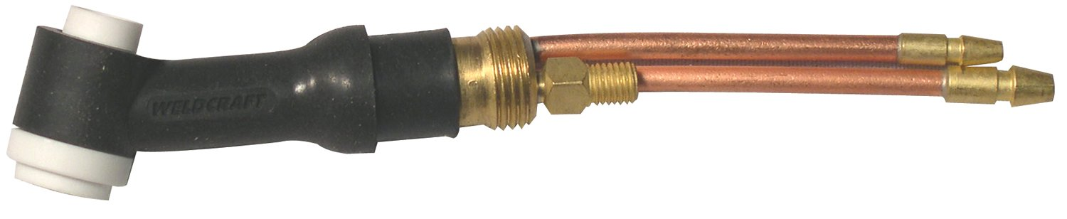 """Weldcraft WP-20-25-R WP-20 Water Cooled TIG Torch Kit, Angled Head, 3/4"""" Handle, 25' Rubber Cable (366-WP-20-25-R)"""