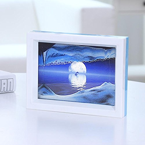 - Moving Sand Art Picture, Flowing Desktop Sand Painting Toys,Comes with Beautiful Pictures and Mirrors, Perfect Home Décor and Gift (Water Reflection)