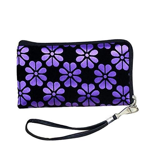 Tuscom Women Printing Coins Change Purse Clutch Zipper Zero(Corduroy) Wallet (16×9CM) - Corduroy Womens Shoulder Bag