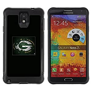 Kobe Diy Case Rugged hybrid Protection Impact Case Cover FOR Note 3 Case ,N9000 Leather Case ,Leather for Note 3 ,Case for Note 3 ,Note 3 case / Bay Packers NFL /