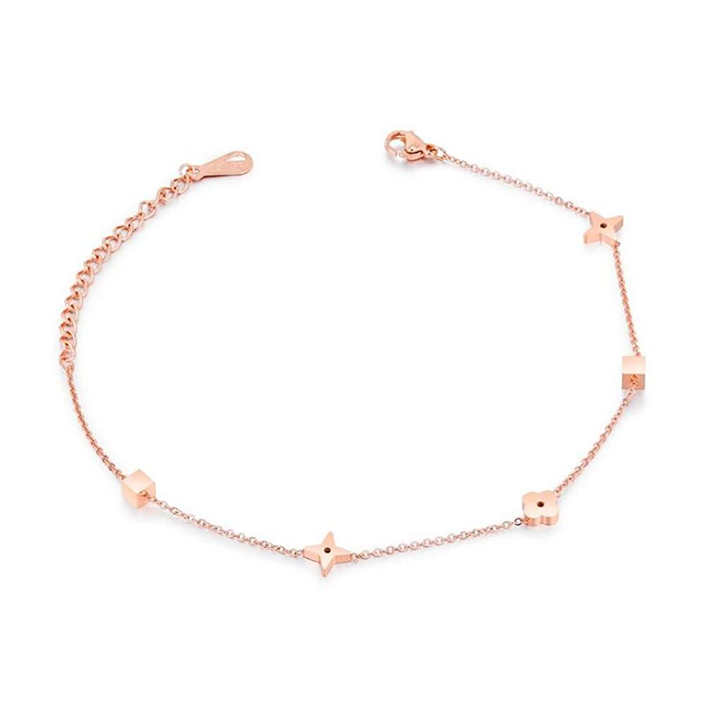 Anklet for Women Summer Anklet for Beach Stainless Steel Rose Gold GBJewelry