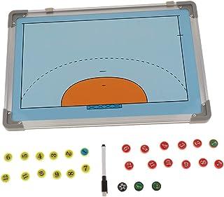 Fenteer Tableau Stratégie Handball Facile à Porter avec Stylo Plaque Tactiques Tableau Magnetique de Sport pour Handball 27 pcs Pions aimantés Magnétique