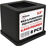 iPrimio Black Bed Risers (8 Pack)