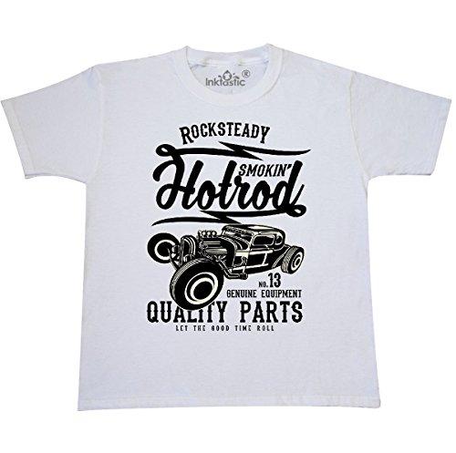 inktastic Smokin Hotrod Youth T-Shirt Youth Small (6-8) (Youth Hot Rod)