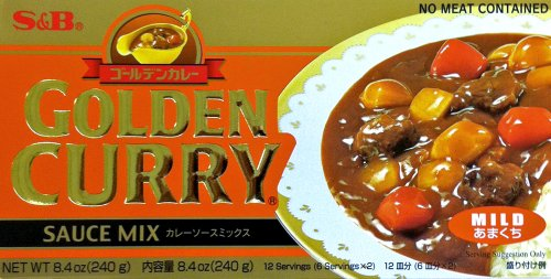 S&B Mild GOLDEN CURRY Sauce Mix 8.4oz (2 Pack)