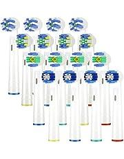 ITECHNIK Ricambi Spazzolini Elettrici per Oral b, Testine di ricambio per spazzolino elettrico compatibile con Oral-B Braun include 4pzs Precision, 4pzs Floss, 4pzs Cross e 4pzs Whitening 3D