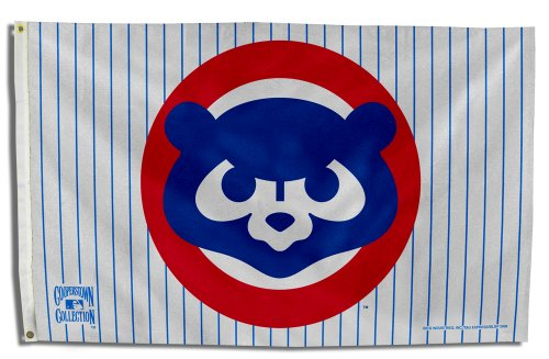 MLB Chicago Cubs 1984 Cooperstown 3 by 5 Banner Flag ()