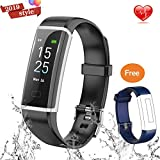 JIALEBI Fitness Tracker, Activity Tracker Watch with Heart Rate Monitor Waterproof Smart Fitness Band with Step Counter Calorie Counter Pedometer Watch for Kids Women and Men
