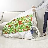 """Hallmark 80"""" Jumbo Christmas Gift Bag (Red and Green, Ho Ho Ho) Giant Plastic Bag for Kids Bikes, Big Stuffed Animals, Bedding Sets and More"""