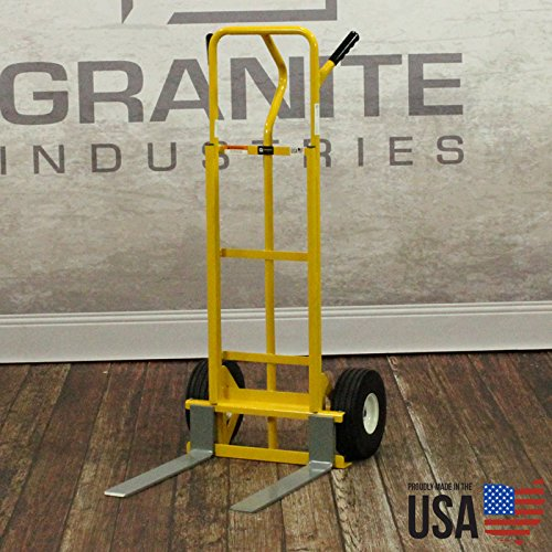American Cart & Equipment Hand Truck with Adjustable Forks, 600-Pound Capacity