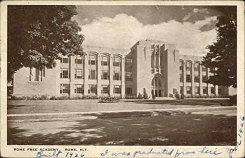 Rome Free Academy Rome, New York Original Vintage (Free Rome Postcard)