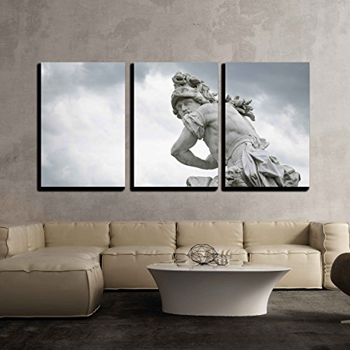 1750 Framed Canvas - wall26 3 Piece Canvas Wall Art - a Marble Statue, from Around 1750, Located at Sanssouci Summer Palace - Modern Home Decor Stretched and Framed Ready to Hang - 24